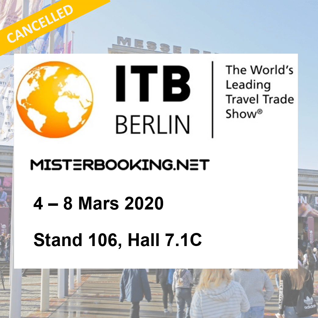 [annulé] Retrouvez-nous au salon international ITB de Berlin du 4 au 8 Mars 2020