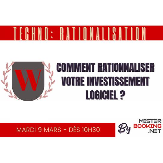 Webinar Misterbooking – THCC : Rationaliser l'investissement en logiciel hôtelier