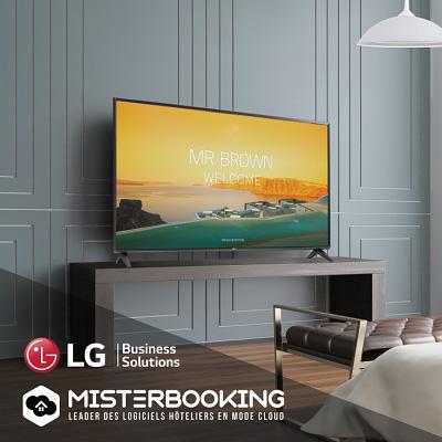 Le PMS Misterbooking et les téléviseurs LG Pro:Centric sont connectés !