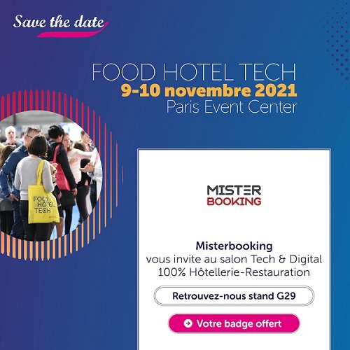 Booth G29 at FHT Paris, event in France in November 2021